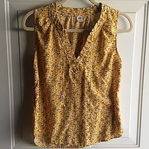 Old Navy tank yellow floral